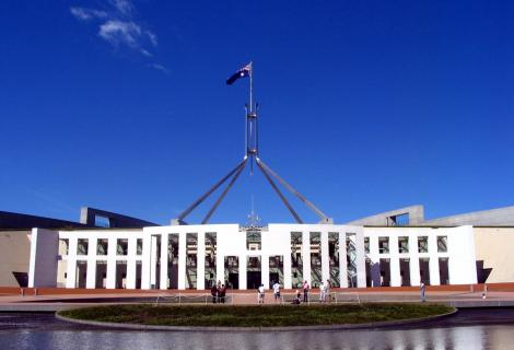 Australia's Parliament building in Canberra