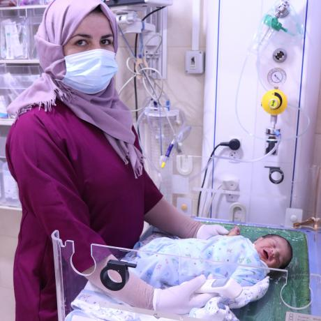 Niveen Zam'areh is a midwife working in the Red Crescent Hospital in Hebron