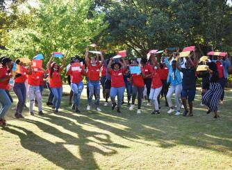 Young women in South Africa demanding for decent work