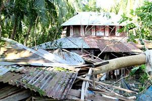 Damaged caused by Cyclone Bulbul