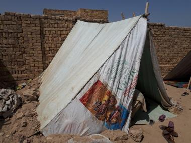 Afghanistan camp tent